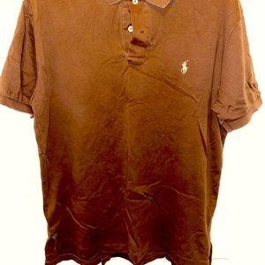 Brown/Tan Ralph Lauren Polo Shirt